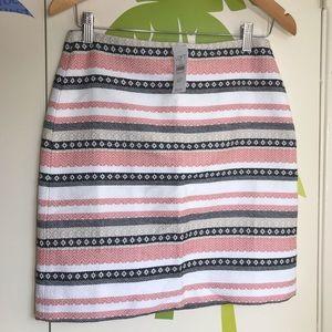 LOFT Petite Striped Tweed Mini Skirt Sz 4P